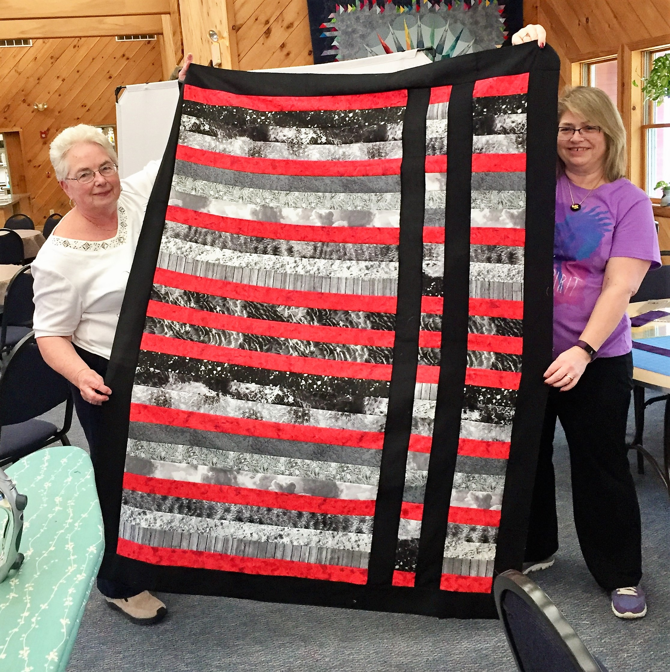 Joanne Black and Red Quilt