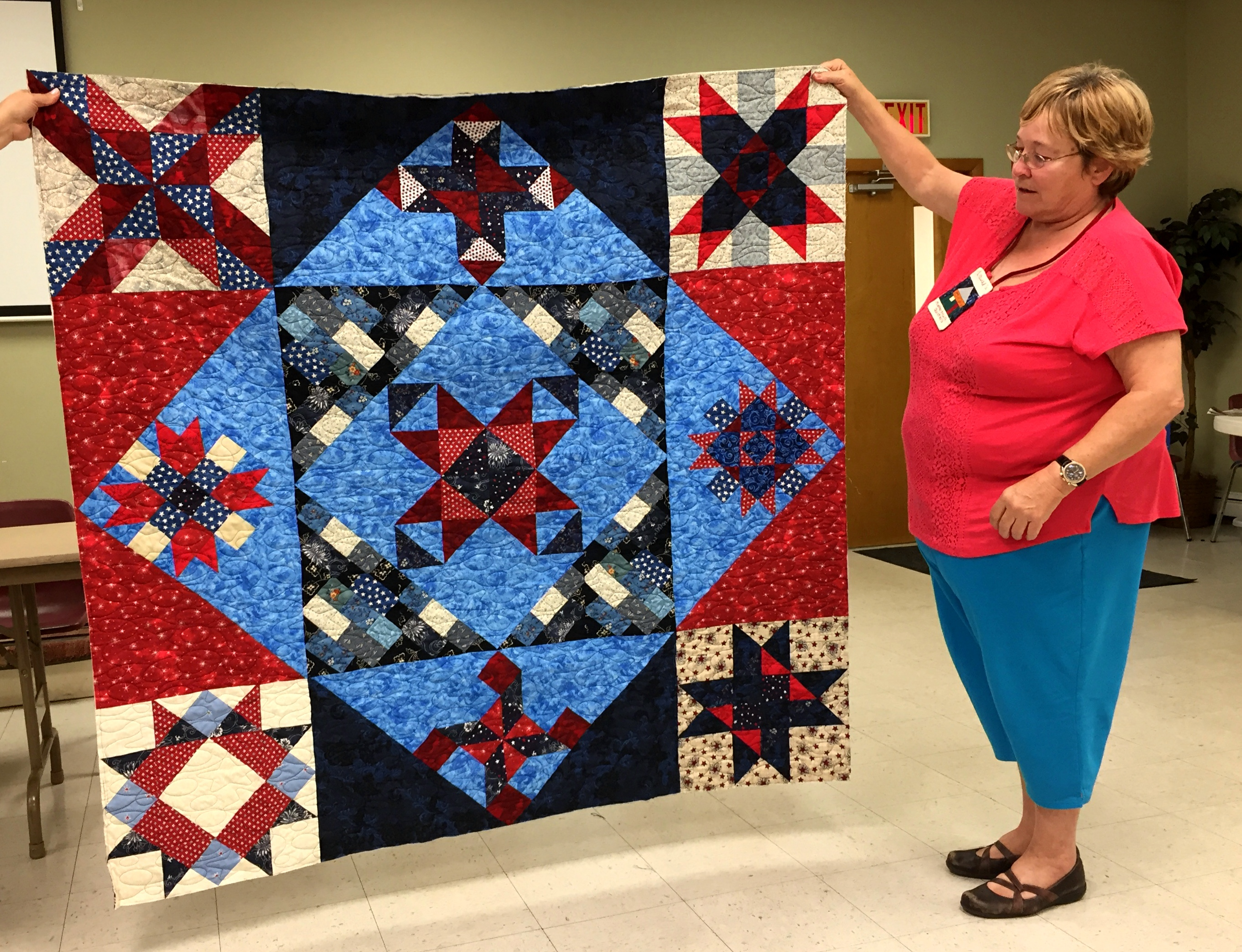 Laurel's Stars and Stripes Quilt