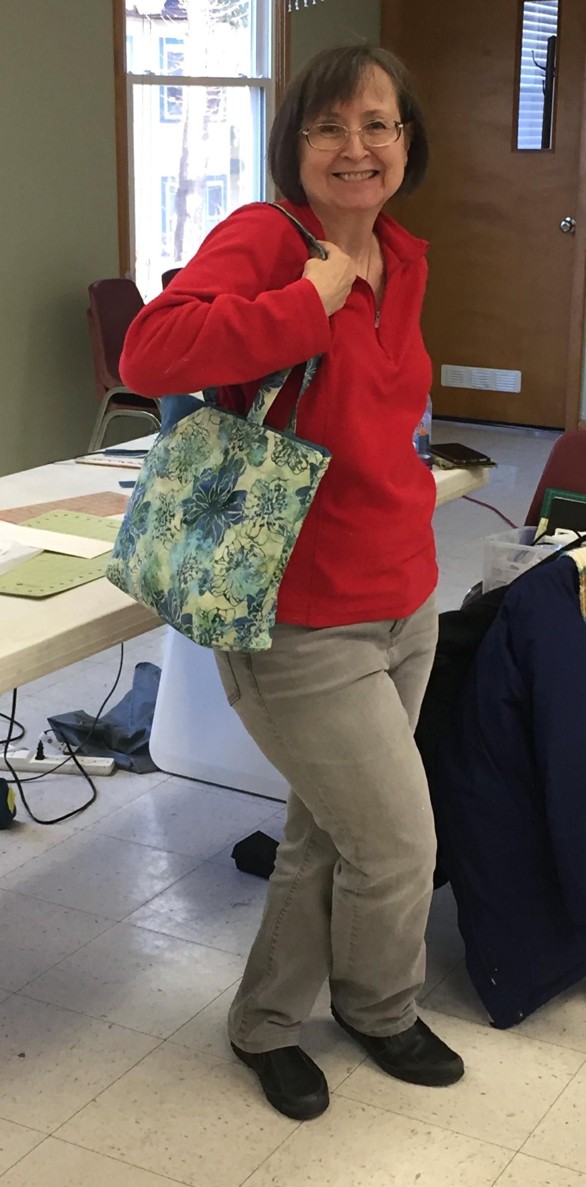 Vicky's Finished Handbag